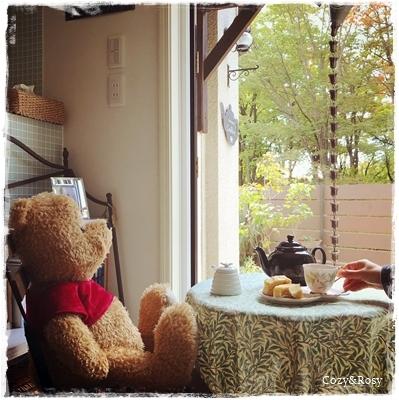 クマのプーさんとティータイム