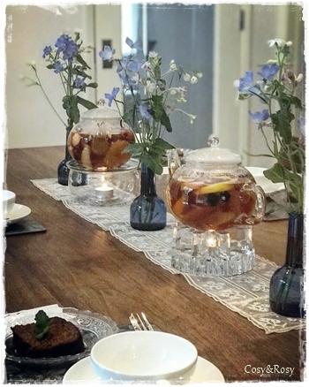 果物と紅茶のハーモニー