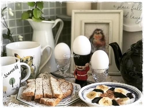 朝ごはん エッグ&ソルジャー