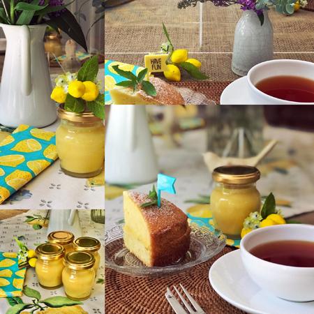 レモンカードと夏のヴィクトリアサンドイッチケーキ
