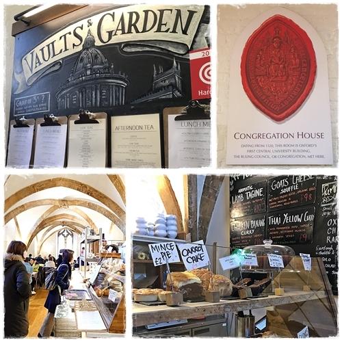 英国オックスフォード VAULTS GARDEN CAFE カレーとミンスパイと紅茶