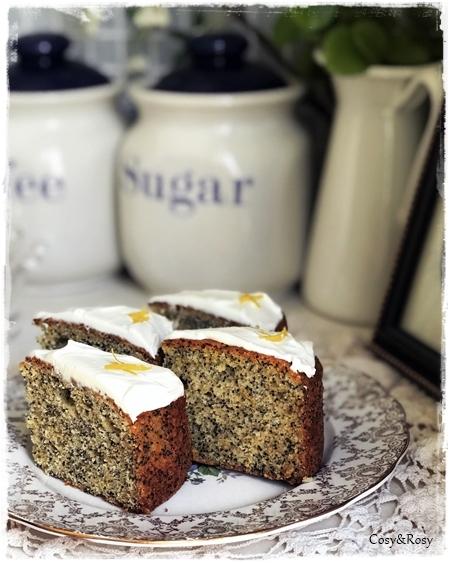 英国菓子 シトラスが香るポピーシードケーキ